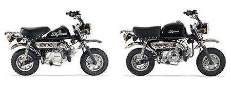 vue eclat e fourche monkey gorilla 50 125cc skyteam. Black Bedroom Furniture Sets. Home Design Ideas
