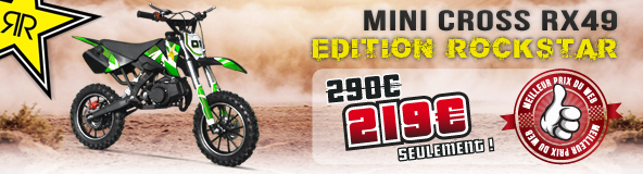 Pocket Bike Pas Cher / Pocket Cross RX 49 - Edition ROCKSTAR 50c