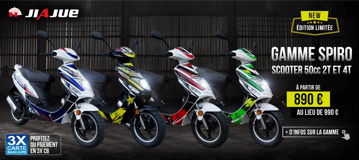 Scooter 50cc Pas Cher - 2/4 Temps - SPIRO 50
