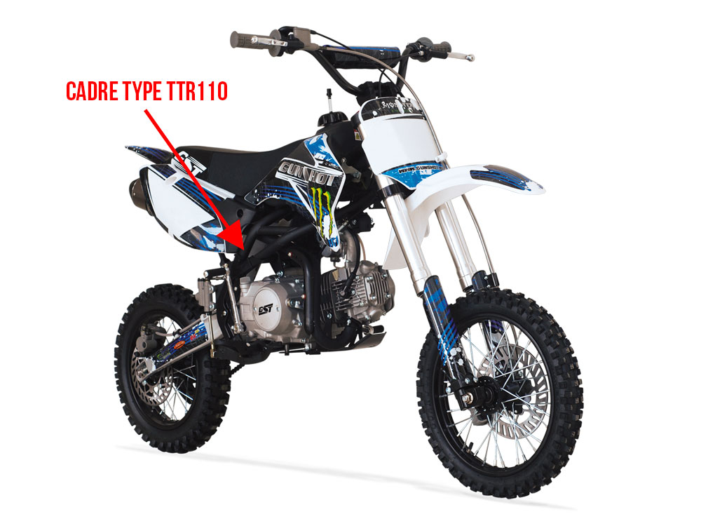 Type TTR110 Collecteur d/échappement Dirt Bike