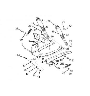 N°2 - Axe de bras oscillant (sans écrou)