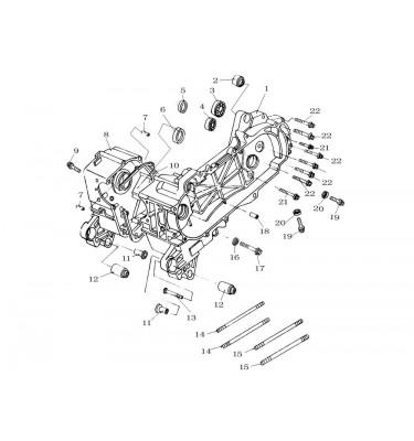 N°1 - Carter moteur gauche