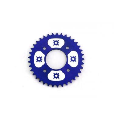 Couronne #420 - 58mm - 37 Dents - Alu - Bleu