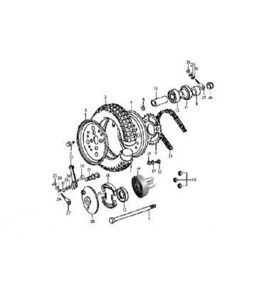 N°9 - Couronne de transmission - 125cc