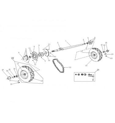 N°21 - Kit tension de chaîne