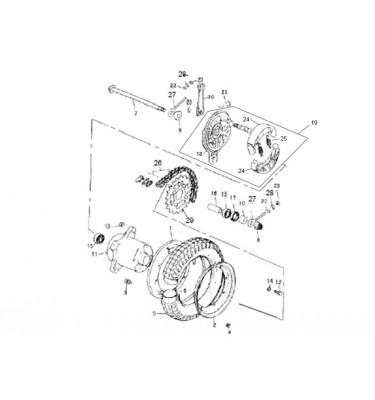 N°11 - Moyeu de roue arrière - Noir