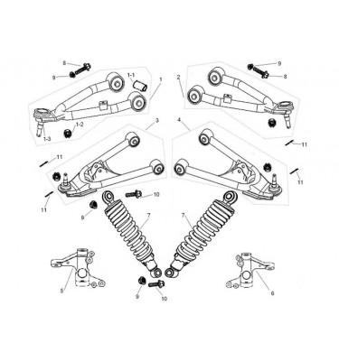 N°5 - Pivot de roue avant gauche