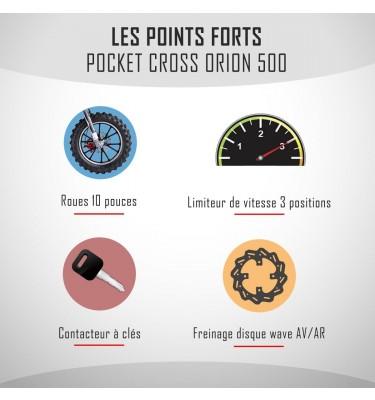 Pocket cross électrique ORION 500W - Édition 2021 - Rouge
