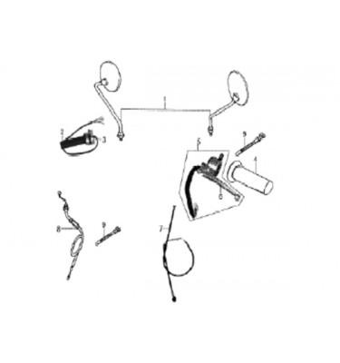 N°1-2 - Rétroviseur gauche - Chrome