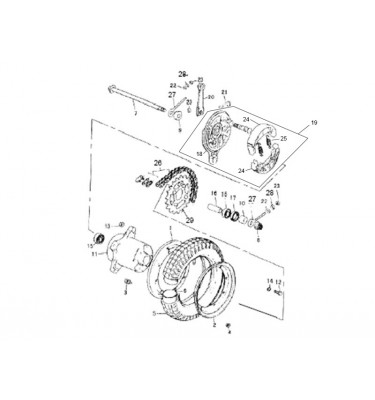 N°19 - Tambour de frein complet - Gris