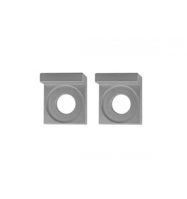 Tendeurs de chaîne alu carré - 15mm - Silver