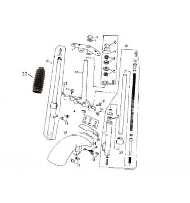 N°12 - Tube de fourche - Droit - Noir