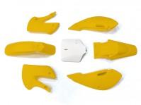 Kit plastique - Type KLX110 - Jaune