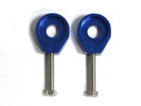 Tendeurs de chaîne alu rond - 15/6mm - Bleu
