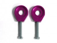 Tendeurs de chaîne alu rond - 15/6mm - Violet