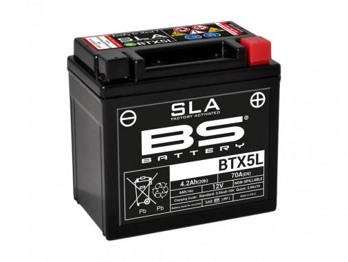 Batterie SLA BTX5L / YTX5L-BS - BS BATTERY