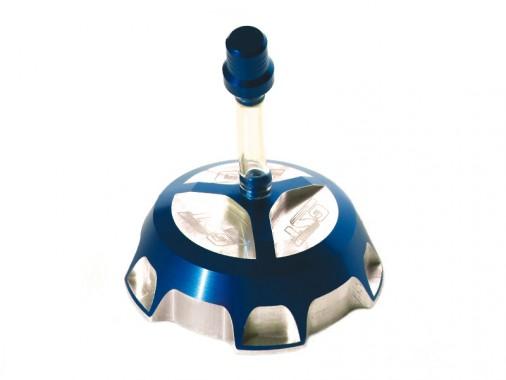 Bouchon de réservoir CNC GUNSHOT - Bleu