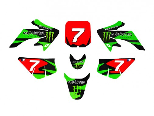 Kit déco ONE INDUSTRIES / MONSTER ENERGY - Type CRF50
