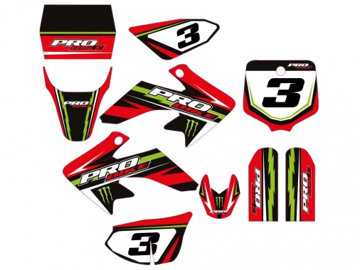 Kit déco PROBIKE - Type CRF50 - Rouge