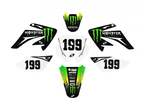 Kit déco ONE INDUSTRIES / MONSTER - Type CRF70