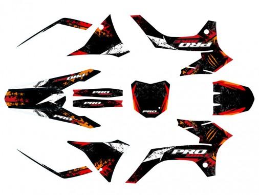Kit déco PROBIKE - Type KTM - Rouge