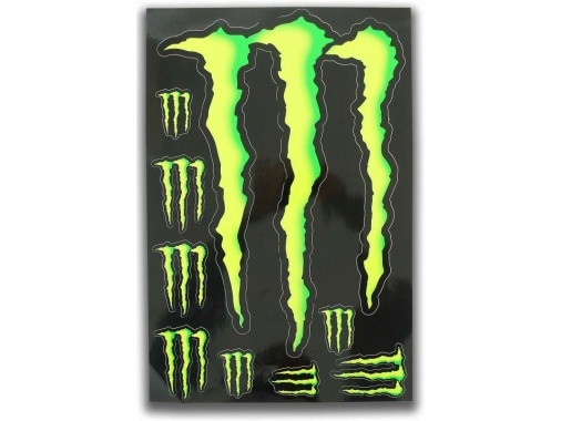 Planche stickers - MONSTER ENERGY - BIG