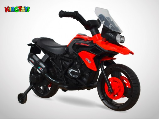Moto électrique enfant KINGTOYS - 1000GS 18W - Rouge