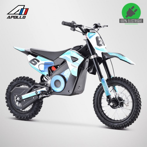 Moto enfant électrique APOLLO RXF ROCKET 1000W - Édition 2021 - Bleu