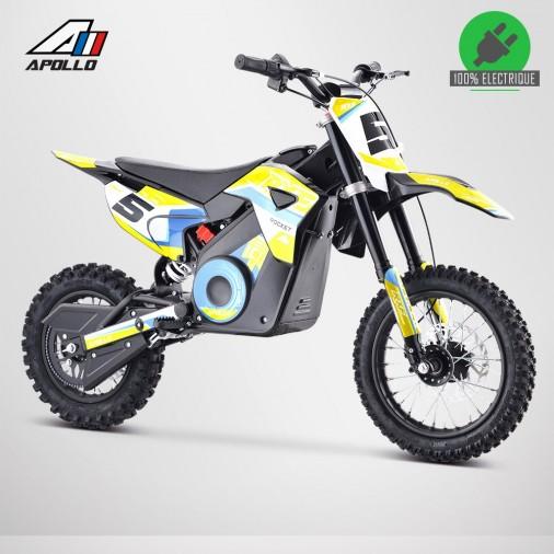 Moto enfant électrique APOLLO RXF ROCKET 1000W - Édition 2021 - Jaune