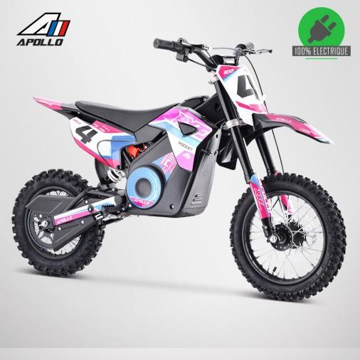 Moto enfant électrique APOLLO RXF ROCKET 1000W - Édition 2021 - Rose
