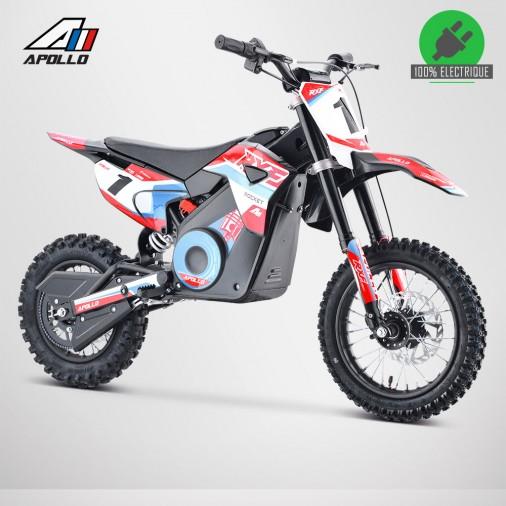 Moto enfant électrique APOLLO RXF ROCKET 1000W - Édition 2021 - Rouge