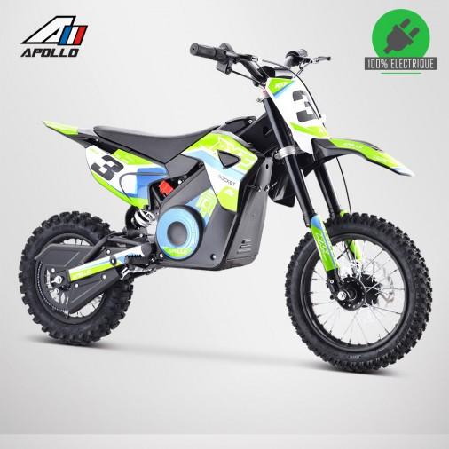 Moto enfant électrique APOLLO RXF ROCKET 1000W - Édition 2021 - Vert