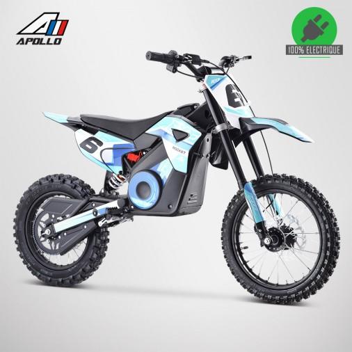 Moto enfant électrique APOLLO RXF ROCKET 1300W - Édition 2021 - Bleu