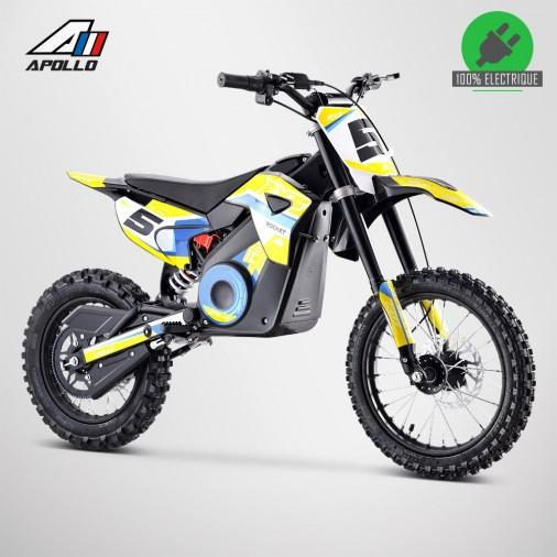 Moto enfant électrique APOLLO RXF ROCKET 1300W - Édition 2021 - Jaune