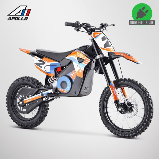 Moto enfant électrique APOLLO RXF ROCKET 1300W - Édition 2021 - Orange
