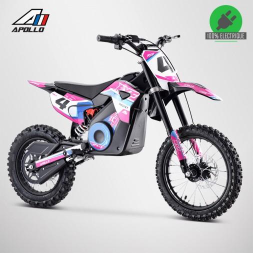 Moto enfant électrique APOLLO RXF ROCKET 1300W - Édition 2021 - Rose