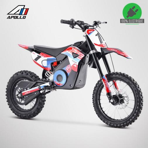 Moto enfant électrique APOLLO RXF ROCKET 1300W - Édition 2021 - Rouge