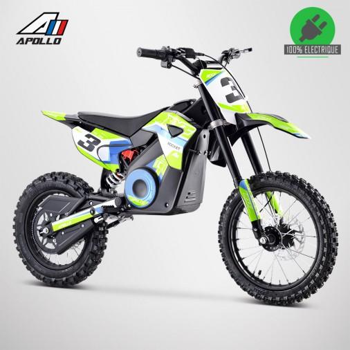 Moto enfant électrique APOLLO RXF ROCKET 1300W - Édition 2021 - Vert