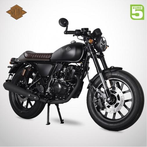 Moto homologuée CAFE RACER 125 SP E5 - ARCHIVE - Noir Mat