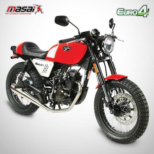 Moto homologuée BLACK CAFE 50 - MASAI - Rouge