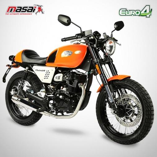 Moto homologuée BLACK CAFE 125 - MASAI - Orange