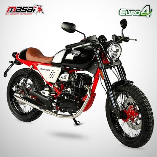 Moto homologuée BLACK CAFE 125 - MASAI - Rouge