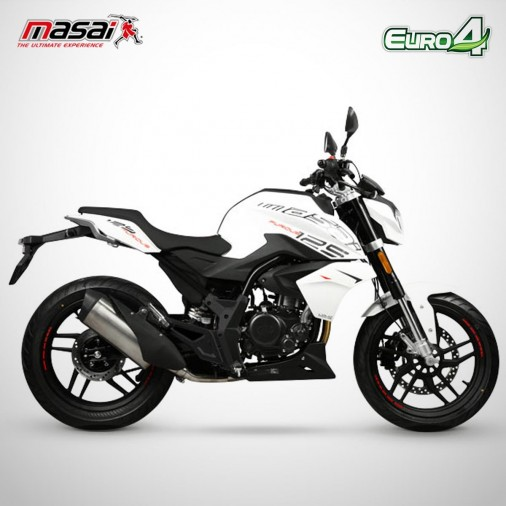 Moto homologuée FURIOUS 125 - MASAI - Blanc