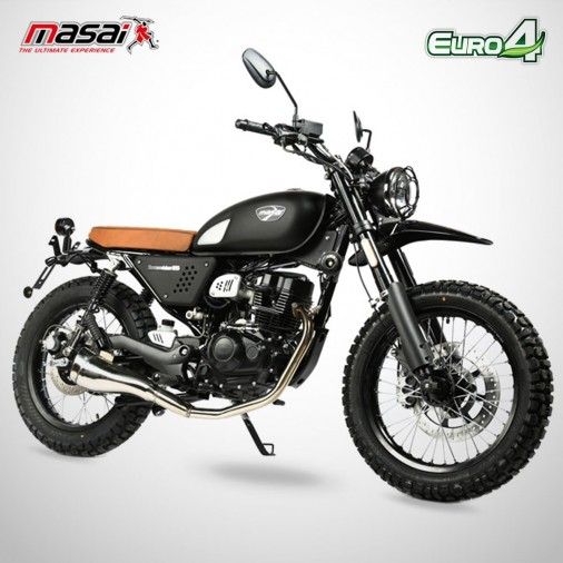 Moto homologuée SCRAMBLER 125 - MASAI - Noir