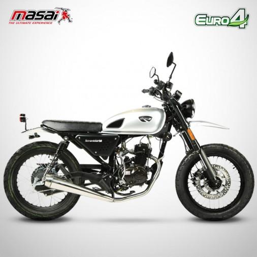 Moto homologuée SCRAMBLER 50 - MASAI - Gris