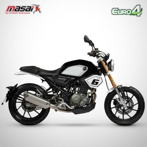 Moto homologuée SCRAMBLER SPORT 125 - MASAI - Noir
