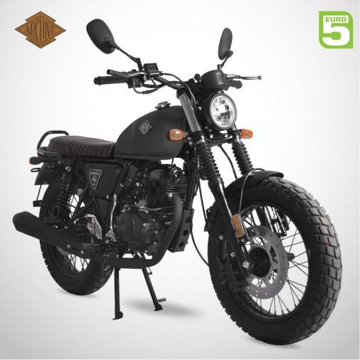 Moto homologuée SCRAMBLER 125 E5 - ARCHIVE - Noir Mat