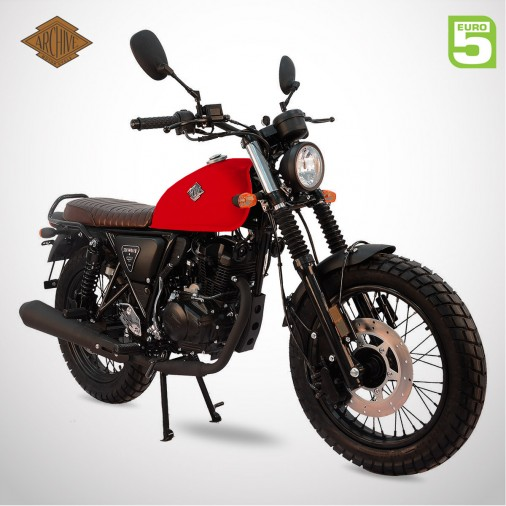 Moto homologuée SCRAMBLER 125 E5 - ARCHIVE - Orange Brillant