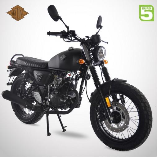 Moto homologuée SCRAMBLER 50 E5 - ARCHIVE - Noir Mat