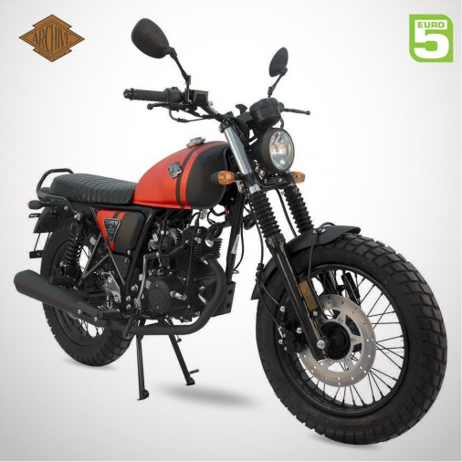 Moto homologuée SCRAMBLER 50 E5 - ARCHIVE - Noir / Rouge